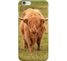 Highland Cow in Scotland iPhone Case/Skin