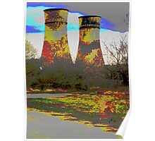 Tinsley Cooling Towers Warhol style Poster