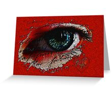 Its all in the eyes............ Greeting Card