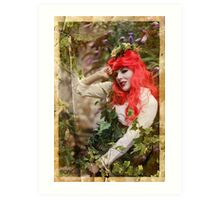 Dieselpunk Poison Ivy Secret Garden Art Print