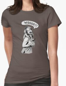 Wooooo Girl !! Womens Fitted T-Shirt