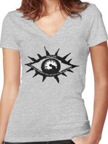 Lemony Snicket VFD Eye Sanctuary Women's Fitted V-Neck T-Shirt