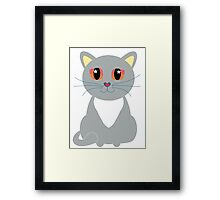 Only One Gray Cat Framed Print