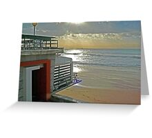 waking up the senses by the sea... Greeting Card