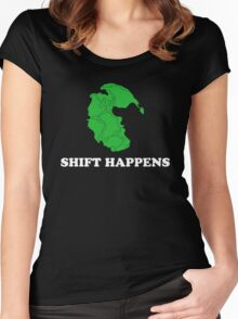 Pangea- Shift Happens Women's Fitted Scoop T-Shirt