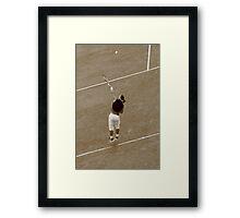 Raphael Nadal is flying Framed Print
