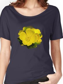 Yellow Primrose Flowers Women's Relaxed Fit T-Shirt