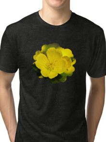 Yellow Primrose Flowers Tri-blend T-Shirt