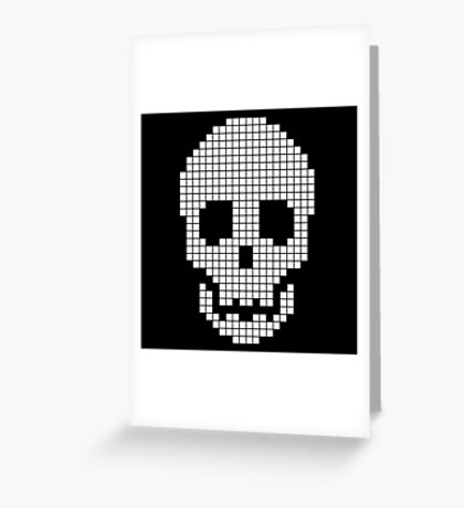 pixel skull Greeting Card