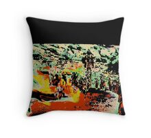 Modern abstract, multicolored Throw Pillow