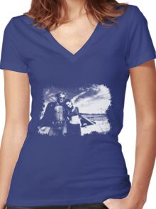 Road Trip Women's Fitted V-Neck T-Shirt
