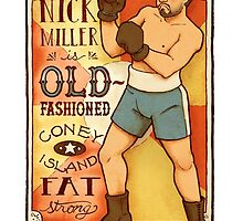 Nick Miller is Old-Fashioned Coney Island Fat Strong by paigeonecomics