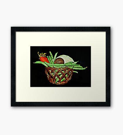 Vegetable Basket. Framed Print