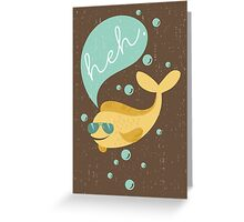 Funny aviator sunglasses heh bubble fish  Greeting Card