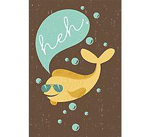 Funny aviator sunglasses heh bubble fish  Photographic Print