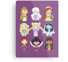 Lil' CutiEs - Alternate Princesses Group One Metal Print