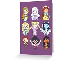 Lil' CutiEs - Alternate Princesses Group One Greeting Card