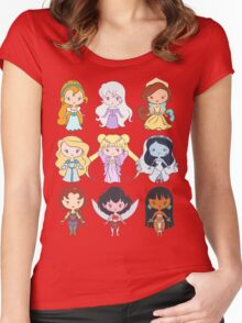 Lil' CutiEs - Alternate Princesses Group One Women's Fitted Scoop T-Shirt