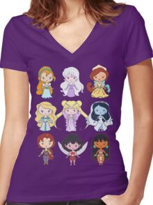 Lil' CutiEs - Alternate Princesses Group One Women's Fitted V-Neck T-Shirt
