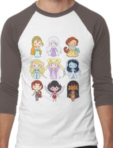 Lil' CutiEs - Alternate Princesses Group One Men's Baseball ¾ T-Shirt