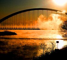 Sunset;over the bridge... by sendao