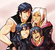 Dorky Chrobin Family by Tiuana-Rui