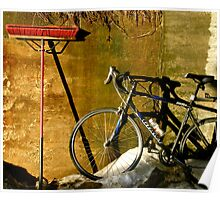 Broom & Bike On Ice Poster