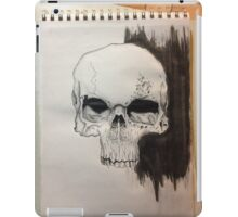 Skull Drawing on paper iPad Case/Skin