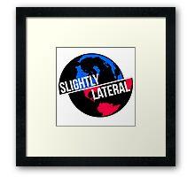 Slighty Lateral World Framed Print