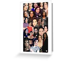 Lana Parrilla collage Greeting Card