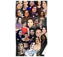 Lana Parrilla collage Poster