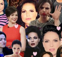 Lana Parrilla collage Sticker