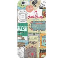 Vintage foodie collage food wine coffee tea restaurant iPhone Case/Skin