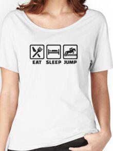 Eat sleep jump show jumping Women's Relaxed Fit T-Shirt