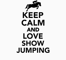 Keep calm and love show jumping Womens Fitted T-Shirt