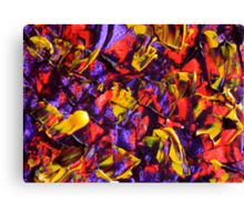 Abstract Design, Purple, Red and Gold Contemporary Art  Canvas Print