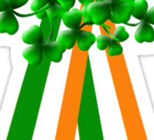 T-Shirt: Ribbon and Shamrock for Saint Patrick's Day Sticker