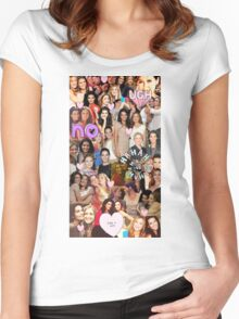 Rizzles collage Women's Fitted Scoop T-Shirt