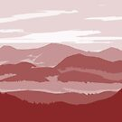 Red Mountains by EdwardDunning