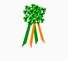 Large Shamrock on Tri-Colour Ribbon - St Patrick's Day Unisex T-Shirt