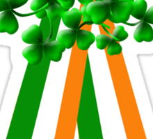 Large Shamrock on Tri-Colour Ribbon - St Patrick's Day Sticker