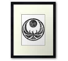 Nightingale Symbol Framed Print