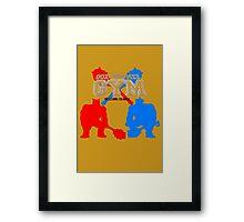 Goz and Mez Gym Framed Print