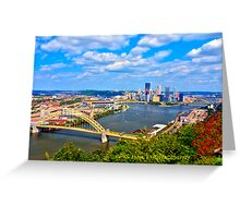 Pittsburgh Pennsylvania HDR Greeting Card