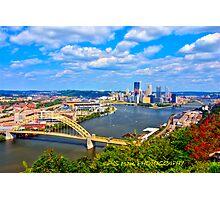Pittsburgh Pennsylvania HDR Photographic Print
