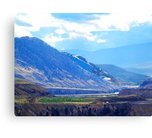 Oasis in the Mountains Canvas Print