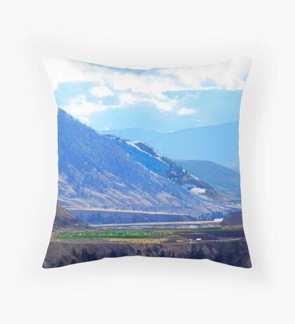 Oasis in the Mountains Throw Pillow