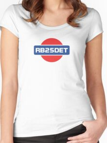 RB25DET Engine Women's Fitted Scoop T-Shirt