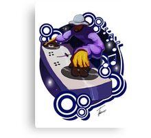 Hip Hop Elements 01 - The DJ Canvas Print
