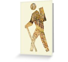 Autumn Hiker Greeting Card